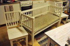 Kustavialistyyli sohva ja tuolit