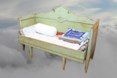 1800 luvun sivustavedettävä sohva
