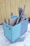 Vihreä puulaatikko