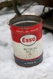 Vanha Esso öljytynnyri 20l